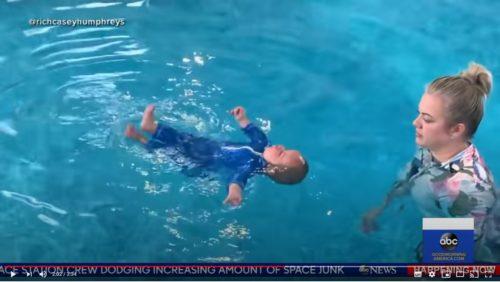 リッチ・ハンスフリー君 水泳練習