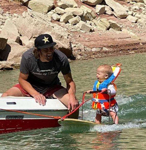 リッチ・ハンスフリー君 水上スキー